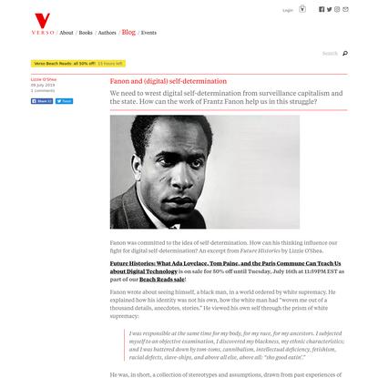 Fanon and (digital) self-determination