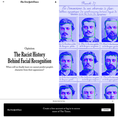 Opinion | The Racist History Behind Facial Recognition - The New York Times