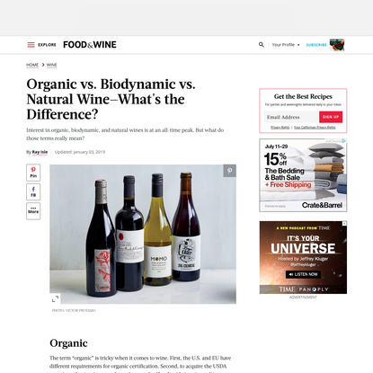 Organic vs. Biodynamic vs. Natural Wine-What's the Difference?