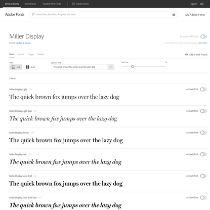 Miller Display | Adobe Fonts