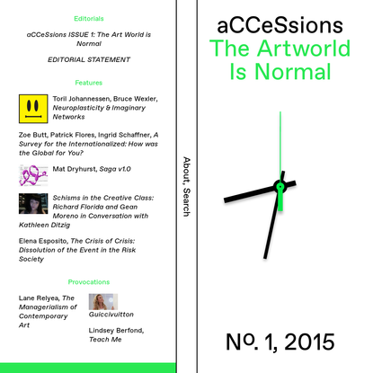 aCCeSsions, Issue 1: The Art World is Normal