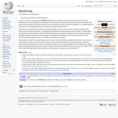 Blackboxing - Wikipedia