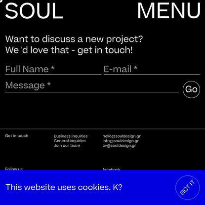 Begin with your design, branding or marketing project with SOUL here.