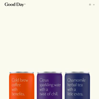 Good Day | CBD beverages for better days