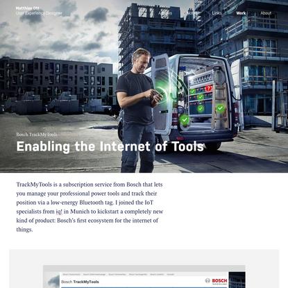 TrackMyTools · Matthias Ott - User Experience Designer