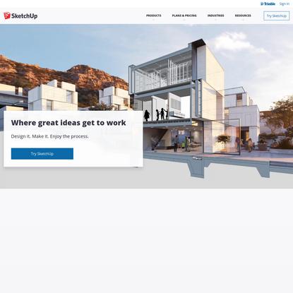 3D Design Software | 3D Modeling on the Web | SketchUp