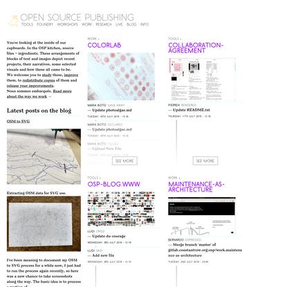 OSP (Open Source Publishing) →