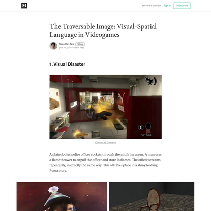 The Traversable Image: Visual-Spatial Language in Videogames