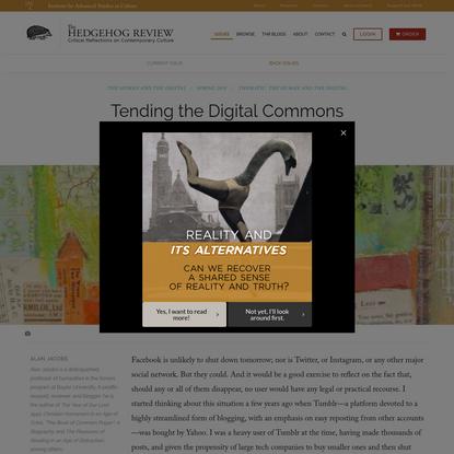 Tending the Digital Commons