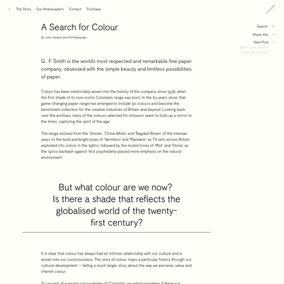 A Search for Colour