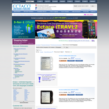 eBook Readers PDA Electronic Dictionaries - ECTACO