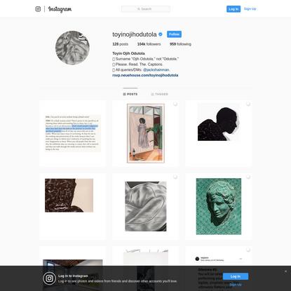 Toyin Ojih Odutola (@toyinojihodutola) * Instagram photos and videos