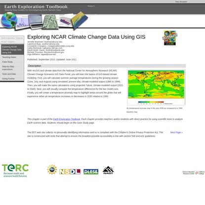 Exploring NCAR Climate Change Data Using GIS