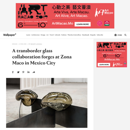 A transborder glass collaboration forges at Zona Maco in Mexico City