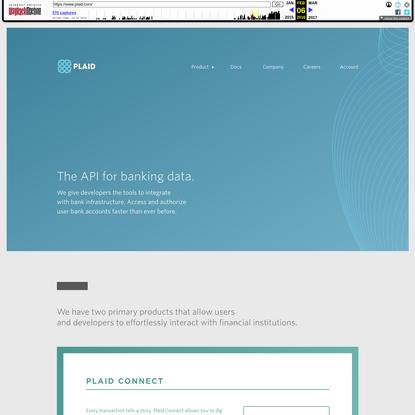 Plaid | The API for banking data