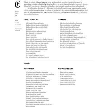 Essays - Gwern.net