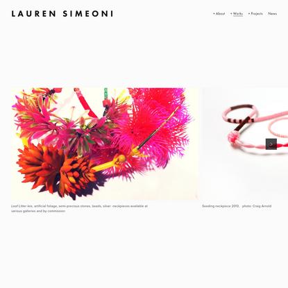 One off's - Lauren Simeoni
