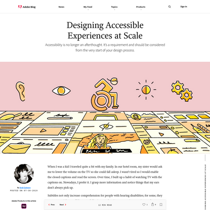 Designing for Accessibility at Scale - Adobe