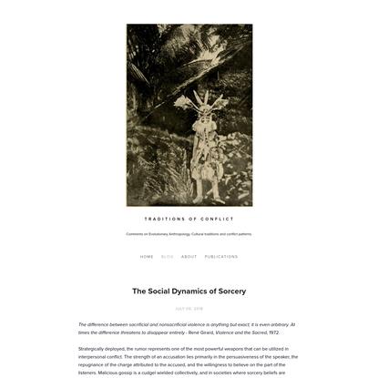 The Social Dynamics of Sorcery