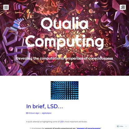 Qualia Computing