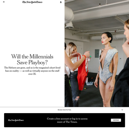 Will the Millennials Save Playboy? - The New York Times