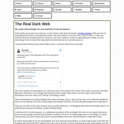 The Real Dark Web