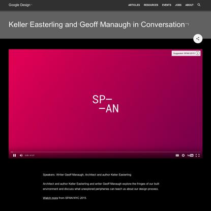 Keller Easterling and Geoff Manaugh in Conversation