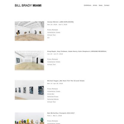 Exhibitions - BILL BRADY MIAMI