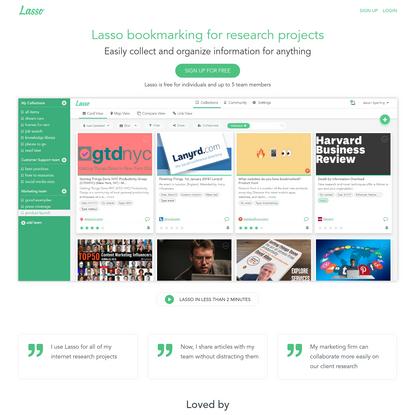 Lasso - Next generation bookmarking for individuals & teams