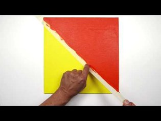 Creating a hard edge with acrylic paints | Winsor & Newton Masterclass