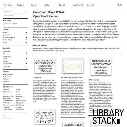 Open Font License | LIBRARYSTACK∎