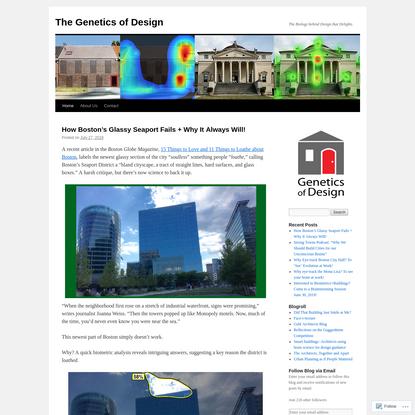 The Genetics of Design