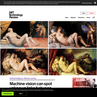 Machine vision can spot unknown links between classic artworks