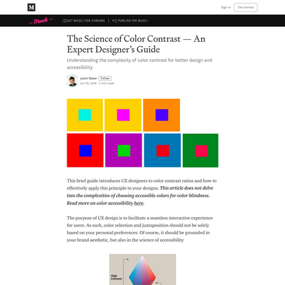 The Science of Color Contrast - An Expert Designer's Guide
