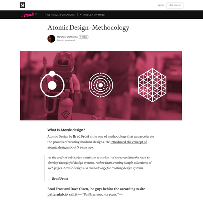 Atomic Design -Methodology