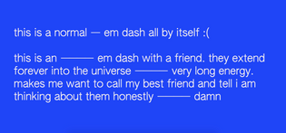 Emdash Extending Forever Into The Universe