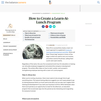 Create Learn-At-Lunch Program to Teach Employees Software and More