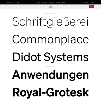 Klim Type Foundry · Söhne Fonts