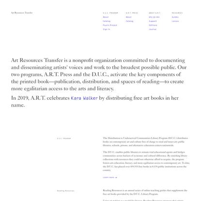 Art Resources Transfer
