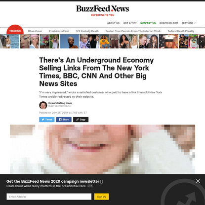 There's An Underground Economy Selling Links From The New York Times, BBC, CNN And Other Big News Sites