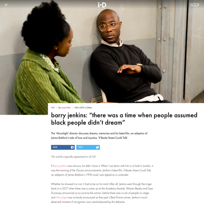 """barry jenkins: """"there was a time when people assumed black people didn't dream"""""""