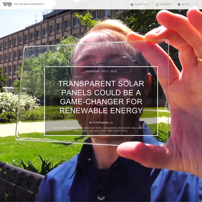 Transparent solar panels could be a game-changer for renewable energy