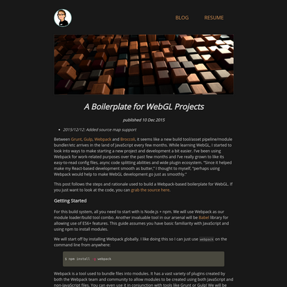 A Boilerplate for WebGL Projects