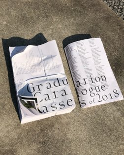 Sjon & Sean designed this years graduation catalogue. Typeface by @bold_decisions @sjondebaron @graduationshow2018 #graphicd...