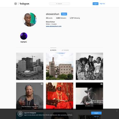 Ekow Eshun (@ekoweshun) * Instagram photos and videos
