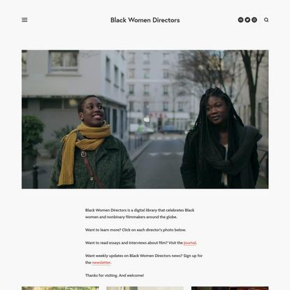 Black Women Directors