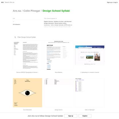 Are.na / Design School Syllabi