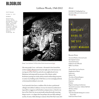 Lebbeus Woods, 1940-2012