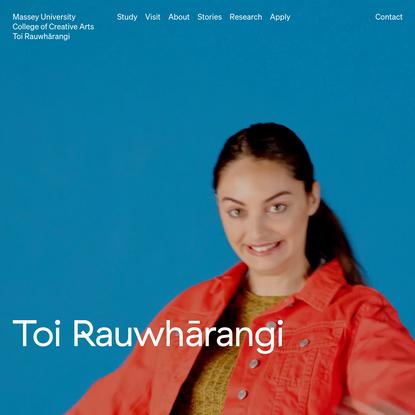 Toi Rauwhārangi College of Creative Arts | Massey University | Create with us