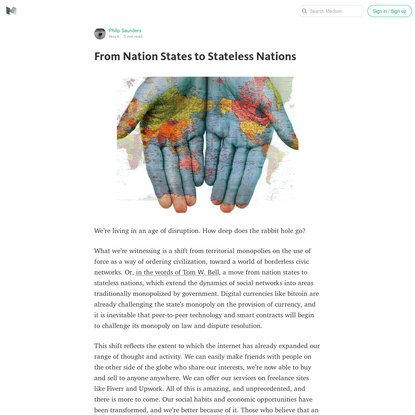 From Nation States to Stateless Nations